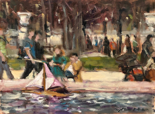 Paris Park | 12X9 | Original Oil Painting