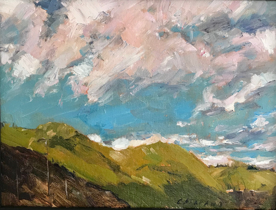 Pink Sky |  9x12 | Oil on Canvas