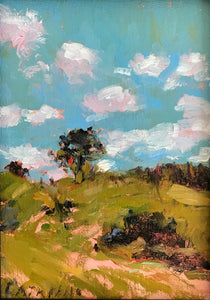 Scattered Clouds | 5x7 | Original Oil Painting