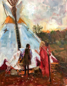 HOUSE OF TWO SPIRITS TIPI | 11X14 | Fine Art Print
