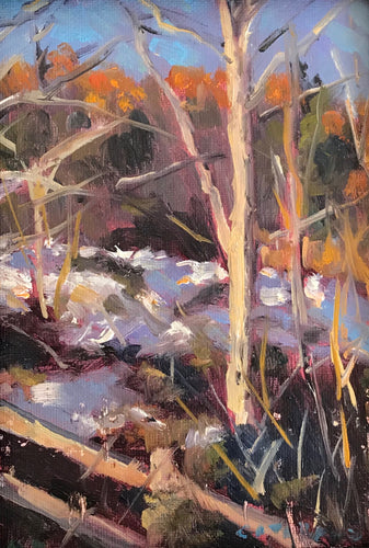 Trees in Winter | 5x7 | ORIGINAL OIL PAINTING