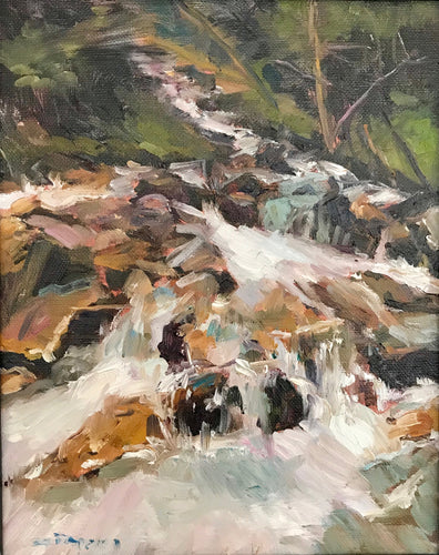 Waterfall | 8x10 | Original Oil Painting