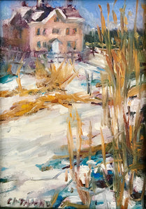 Winter Day | 4x6 | Original Oil Painting