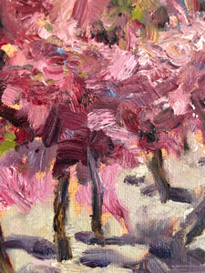 PINK TREES | 11X14 | ORIGINAL OIL PAINTING