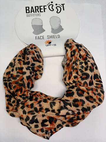BAREFOOT OUTFITTERS FACE SHIELD CHEETAH