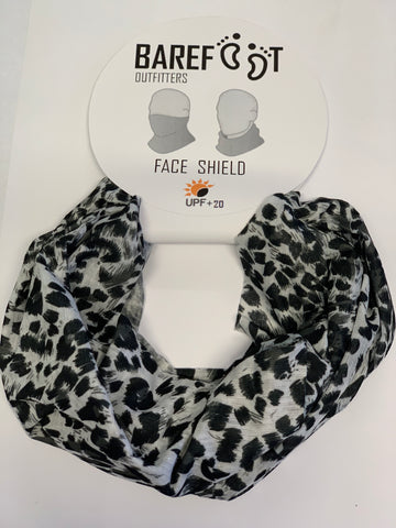 BAREFOOT OUTFITTERS FACE SHIELD BLACK AND WHITE