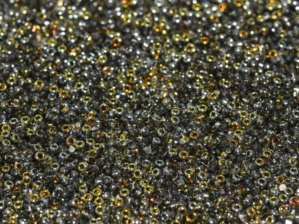 10 g 10 g Cut Seed Beads 15/0 Crystal Marea Czech Glass Grey Yellow Multicolored