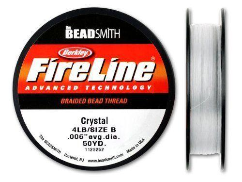 BeadSmith FireLine crystal 4lb, 0,13mm (0.004 inch) average diameter