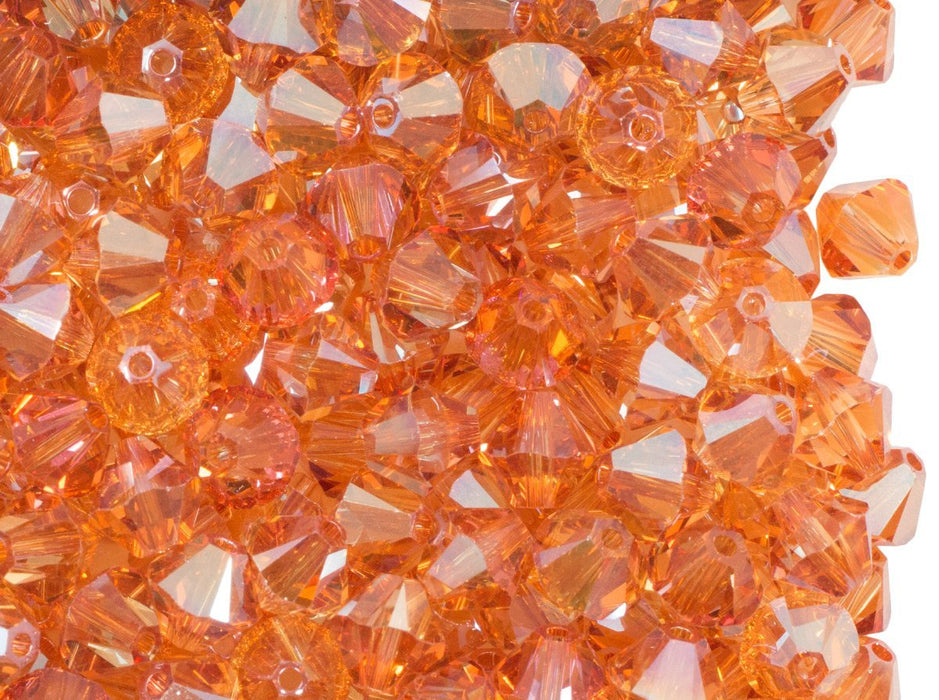 12 pcs 5328 Xilion (Bicone) 6 mm Fire Opal Swarovski Austria Orange