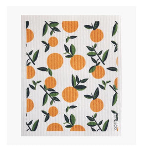 Vintage Citrus Orange Sponge Cloth
