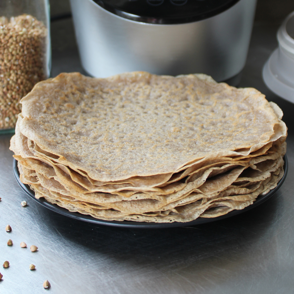 Versatile buckwheat crepes (sweet or savoury)