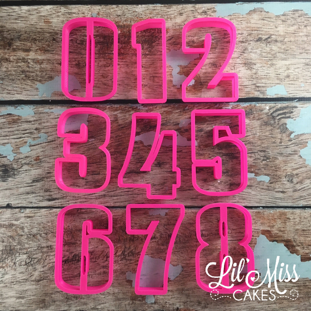 Perfect Number Cutters | Lil Miss Cakes