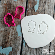Load image into Gallery viewer, Boy Girl Silhouette Cutters | Lil Miss Cakes