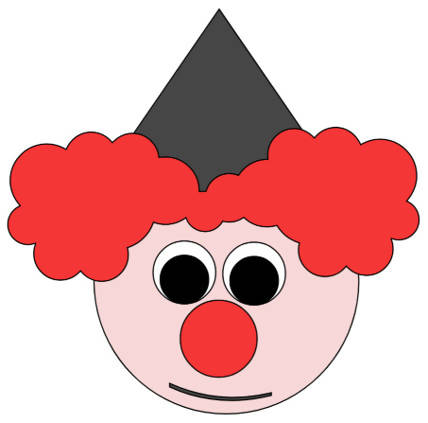 Clown Head - Outline Shape