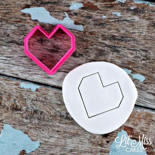Geo Heart Cutter | Lil Miss Cakes