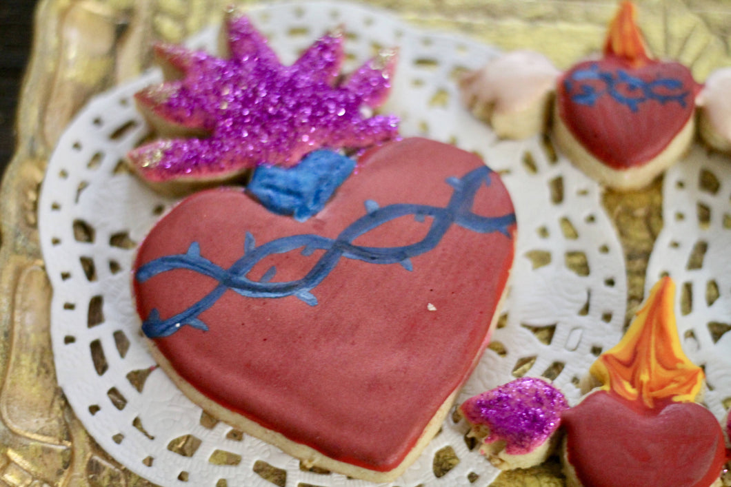 Flaming heart cookie cutter