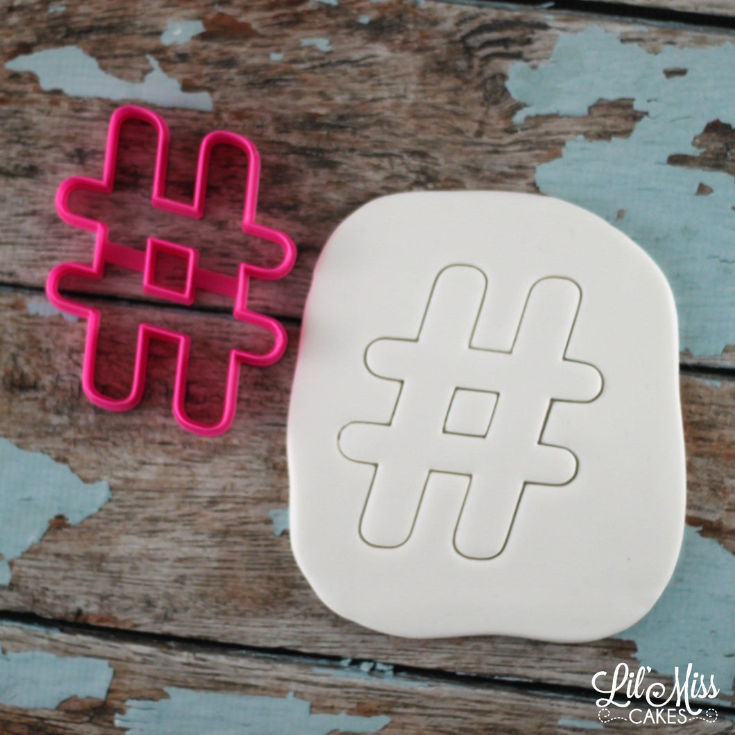 Hashtag Cutter | Lil Miss Cakes