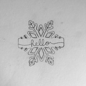 Snowflake Plaque Sketch | Lil Miss Cakes