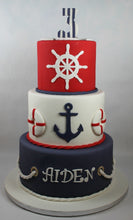 Load image into Gallery viewer, Nautical Birthday Cake