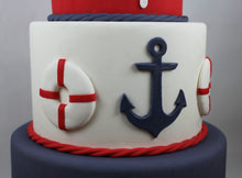 Load image into Gallery viewer, Fondant Nautical Anchor and Life Ring