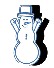 Load image into Gallery viewer, Snowman (w/ Arms & Hat) #1