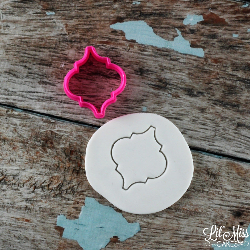 Moroccan Tile Plaque Cutter | Lil Miss Cakes