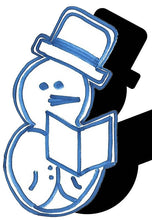 Load image into Gallery viewer, Snowman (w/ Hat & Book) #1
