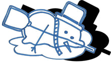 Load image into Gallery viewer, Snowman (w/ Hat & Broom) - Melting #1