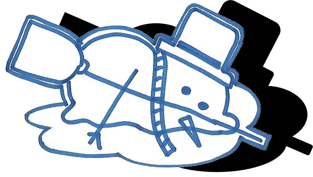Snowman (w/ Hat & Broom) - Melting #1