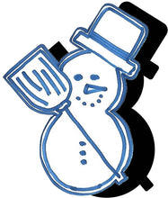 Load image into Gallery viewer, Snowman (w/ Hat & Broom) #1