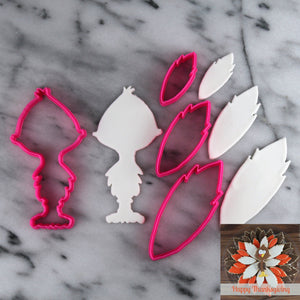 Thanksgiving Turkey Platter Cutter Set