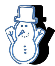 Load image into Gallery viewer, Snowman (w/ Arms & Hat) #2