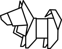 Load image into Gallery viewer, Origami Dog Cookie Cutter