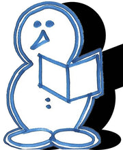 Load image into Gallery viewer, Snowman (w/ Book & Feet) #1