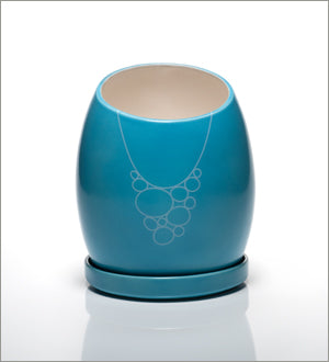 Blue Martini Ceramic Planter