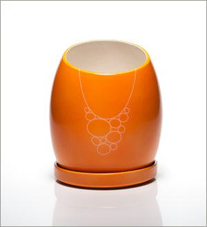 Tangerine Toddy Ceramic Planter