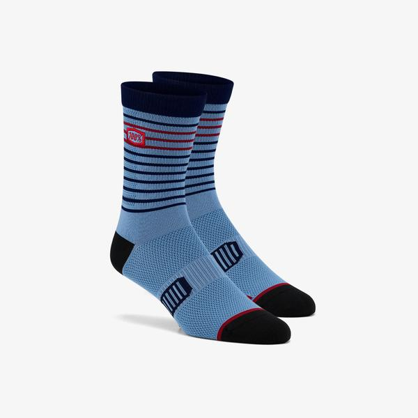 100% Advocate Performance Socks - Blue