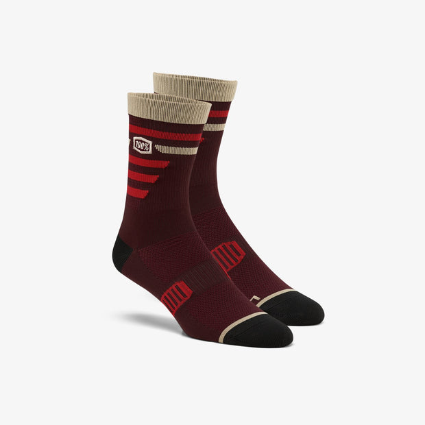 100% Advocate Performance Socks - BRICK