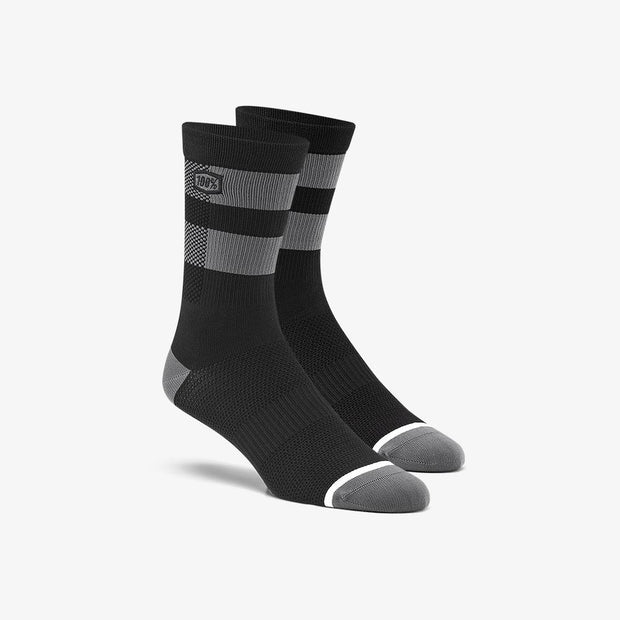 100% Flow Performace Socks - Black/Gray