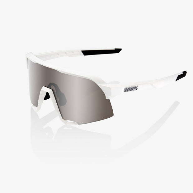 100% S3 Sunglasses - Matte White