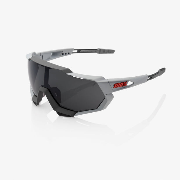 100% Speedtrap Sunglasses - Soft Tact Stone Grey