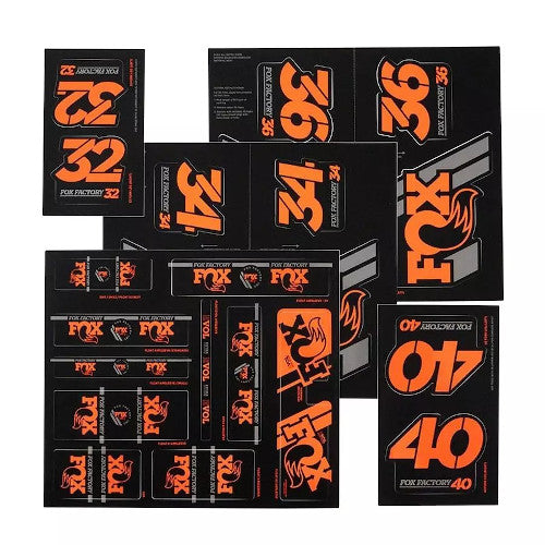19 Fox Am Heritage Decal - Orange
