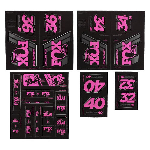 19 Fox Am Heritage Decal - Pink