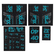 19 Fox Am Heritage Decal - Turquoise