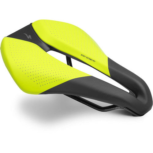 19 Specialized Sitero Expert Gel Saddle - Hyper Green/Black