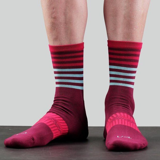 Bellwether Fusion Socks - BG/RD/IC