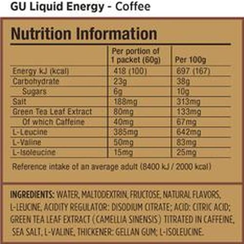 Gu Liquid Energy - COFFEE