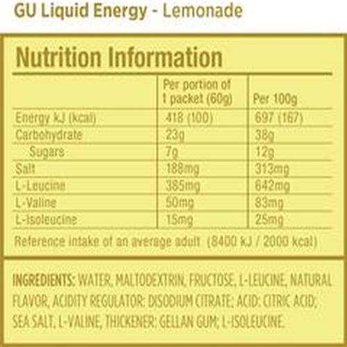 Gu Liquid Energy - Lemon