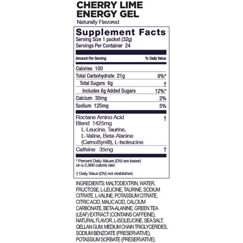 Gu Roctane Energy Gel - CHE/LIME