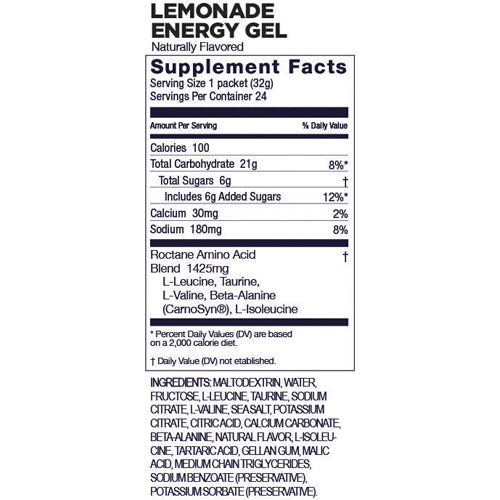 Gu Roctane Energy Gel - LEMONADE